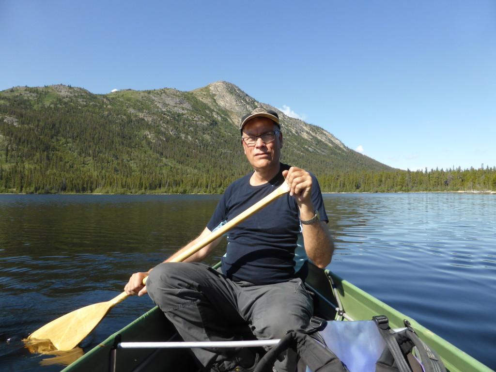 Lars ved Linda Lake i Yukon