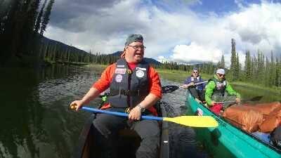 Mads i kanoen på Big Salmon River