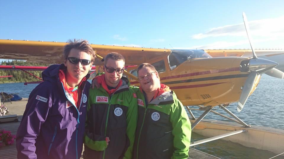 Mads, Simen og Lars-Martin før avreise fra Whitehorse
