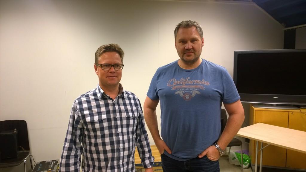 Til venstre Peter Engelschiøn og Roy Kvamme