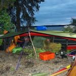 Improviserte camper i villmarka